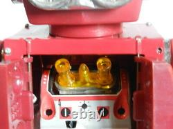 VINTAGE TIN AND PLASTIC TOY SUPER ASTRONAUT ROBOT SJM BATTERY OPERATED WithBOX