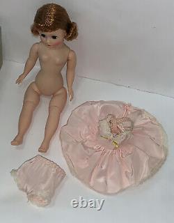 VTG Madame Alexander 1950s Auburn Ren Cissette Doll Pink Dress withbox #801