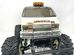 Vintage 1/12 TAMIYA LUNCH BOX 2WD RC Car Monster Truck Van Lights Upgraded Motor