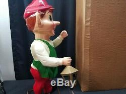 Vintage 1950's 22 Blow Mold Hard Plastic Jointed Christmas Elf with Box (#1)