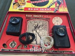 Vintage 1950's Plastic Space Toy BUCK ROGERS Remco Walkie Talkies Set in Box