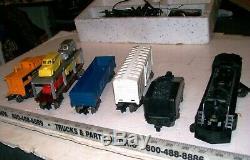 Vintage 1950s Complete O-27 Gauge Electric Steam Freight Train Set wOriginal Box