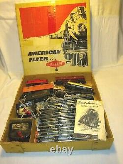 Vintage 1950s Gilbert AMERICAN FLYER Train Set S scale 293 Steam Engine withbox