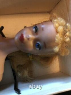 Vintage 1959 Barbie Blonde Ponytail #4 with Original Box and Stand