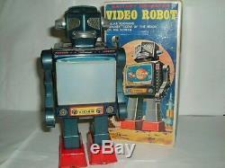 Vintage 1960'stin & Plasticvideo Robothorikawa / Japanwith Box