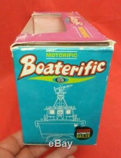 Vintage 1967 Ideal Boaterific Motorific Pt 204 Patrol Boat In Case/box #4545-0