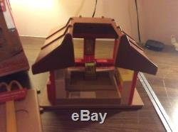 Vintage 1974 Playskool McDonald's Familiar Places Playset W Box Complete