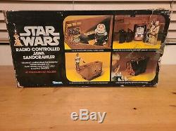Vintage 1979 Kenner Star Wars Jawa Sandcrawler with Ladder Elevator and Box