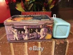 Vintage 1979 metal Star Trek lunch box and plastic thermos