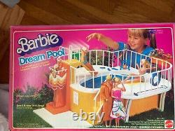 Vintage 1980 Barbie Dream Pool, swimming pool Box included working shower