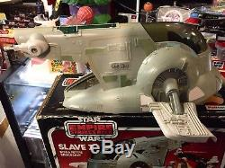 Vintage 1980 Palitoy Star Wars Boba Fetts Slave 1 Spaceship ANH ESB ROTJ Boxed