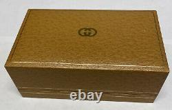 Vintage 1980's GUCCI 1100-L Bracelet/12 Interchangeable Bezel Watch Original Box