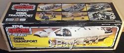 Vintage 1982 Kenner Star Wars ESB Rebel Transport with RARE Yellow Box