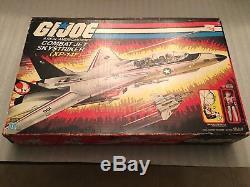 Vintage 1983 GI Joe COMBAT JET SKYSTRIKER XP-14F Unused + ACE New In Box Mint