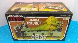 Vintage 1983 Kenner ROTJ Jabba The Hutt Playset With Nice Box