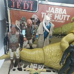 Vintage 1983 Star Wars Jabba The Hutt Playset Henchmen Hero Lot with Damaged Box