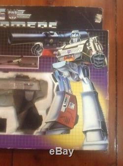 Vintage 1984 Hasbro G1 Transformers Decepticon Leader Megatron, Complete in Box