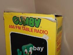 Vintage 1985 Lewco Radio Gumby AM/FM Table Radio, Working Toy Radio, Box