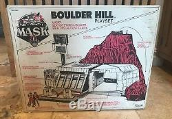 Vintage 1985 M. A. S. K. Kenner Boulder Hill Near Complete w Box Rare