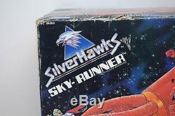 Vintage 1988 Silverhawks Boxed Sky-Runner MISB Vehicle Factory Sealed MOC