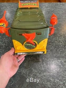 Vintage 1989 TMNT Teenage Mutant Ninja Turtles Bus Party Van Complete NO BOX