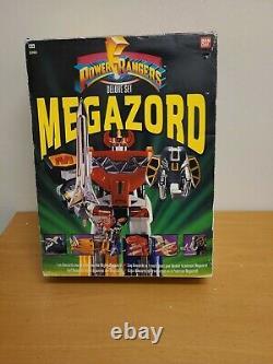 Vintage 1990s Mighty Morphin Power Rangers Megazord Deluxe Set With Original Box