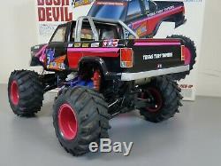 Vintage 1991 Tamiya 1/10 R/C Bush Devil 58101 2WD with Box Manual Remote Battery