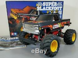 Vintage 1992 Tamiya 1/10 R/C Super Blackfoot Truck 58110 2WD with Box Manual