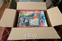 Vintage 1993 Jurassic Park Command Compound Playset Kenner COMPLETE + Box + Deca