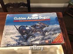 Vintage 80s Radio Shack Golden Arrow Buggy RC Car Box Complete