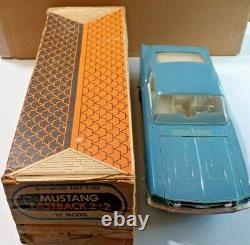 Vintage AMF Wen-Mac 1967 Ford Mustang Fastback 2+2 Battery Op in Original Box