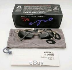 Vintage B&L Ray Ban Bausch & Lomb G15 Silver Mirror Orbs Axis W2312 withCase & Box