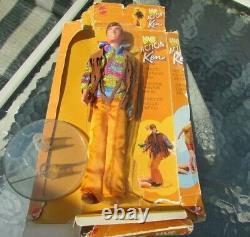 Vintage Barbie Live Action Ken Doll Mod #1159 VHTF Box Stand Wrist Tag
