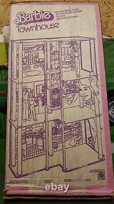 Vintage Barbie Townhouse Complete In Box 1982 House Set w Elevator
