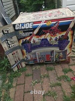 Vintage Boxed GI JOE ARAH Cobra Terror Drome & Firebat Jet withpilot, Hasbro 1986