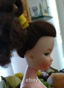 Vintage Brunette Uneeda Miss Suzette Doll, Orig SS & Replacement Display Box Exc