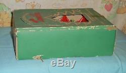 Vintage Christmas BIRDCAGE SPINNER ORNAMENT twinkler lot of 12 in original box