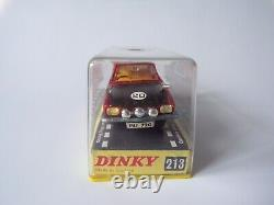 Vintage Dinky Toys #213 Ford Capri Rally Car (Red) Diecast Car Model Plastic Box