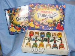 Vintage Disney Mazda Disneylights Christmas RARE Lights Working 8 Boxes ALL WORK