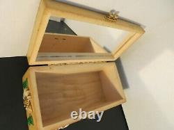 Vintage Enid Collins Upsa Daisy Box Bag Purse Bees Rhinestone plastic Mirror