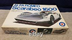 Vintage Entex Alfa Romeo Scarabeo 1600 Plastic Model Kit 116 Scale Boxed Sealed