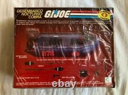 Vintage G. I. JOE Cobra Night Landing 1985 NISB ARGENTINA PLASTIRAMA Dented Box