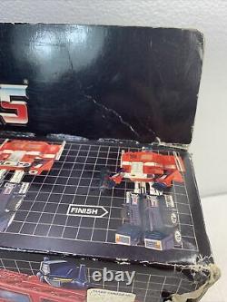 Vintage G1 1984 Optimus Prime Boxed Complete Cib Transformers Missing Flap Re