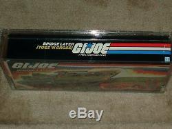 Vintage GI JOE 1984 AFA 80 TOSS N CROSS BRIDGE LAYER HASBRO series 3 MISB BOXED