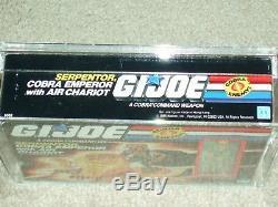 Vintage GI JOE 1986 AFA 80 SERPENTOR withAIR CHARIOT HASBRO series 5 MISB BOXED