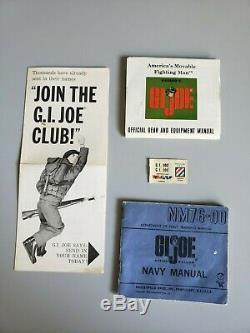 Vintage GI Joe 1964 Action Sailor TM Stamp With Box and paperwork #7600 Hasbro