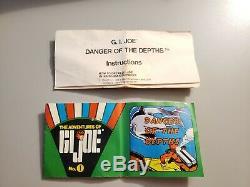 Vintage GI Joe Danger of the Depths 7412 Hasbro Adventure Team Box Instructions