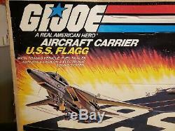 Vintage GI Joe USS Flagg Aircraft Carrier Box great condition ARAH 1985 Hasbro