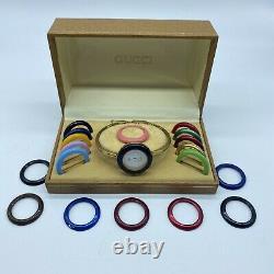 Vintage GUCCI 1100-L Interchangeable Bezel Watch