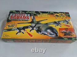 Vintage Galoob Battle Squads C-130 Warbird, 1998 (78070) with box